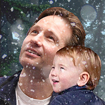 Mulder and William in the snow